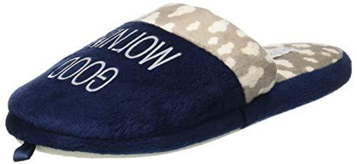 Top Roma Scuro fonseca Femme Ouvert de à W402 Talon Blu Bleu Chaussons waBT7qO4