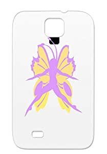 Rugged Colors Art Design Butterfly Person Fantasy Color Blackcat2 Fantasy Navy Butterfly Person For Sumsang Galaxy S4 Case