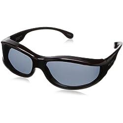 Solar Shield Surf Polarized Rectangular Sunglasses ,Tortoise,51 mm