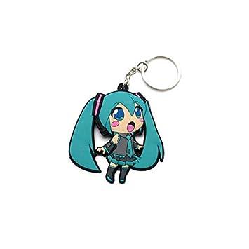 Vocaloid Llaveros de Goma Doble Cara Miku Hatsune - 6,5 cm ...