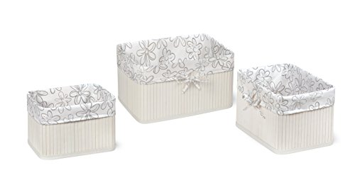 [Badger Basket Claremont Three Basket Set, White] (Badger White Liner)