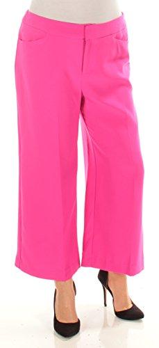 INC International Concepts Women's Cropped Wide-Leg Pant Intense Pink 12