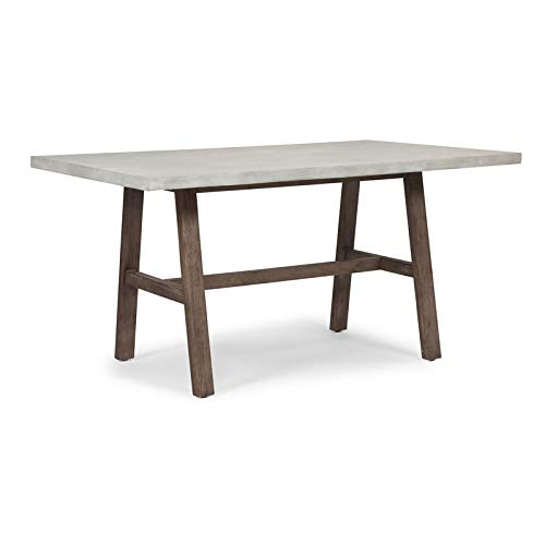 Concrete Chic White Trestle Dining Table by Home Styles