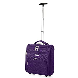 Aerolite Carry On Under Seat Wheeled Trolley Luggage Bag