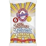 Seabrook Potato Crisps Variety Sixer 6 Pack x 4
