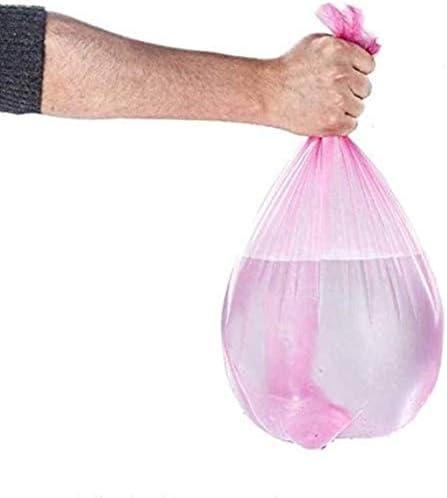 HUILIYUAN 100PCのゴミ袋大耐久使い捨てプラスチック家庭台所ゴミ袋の5つのロール