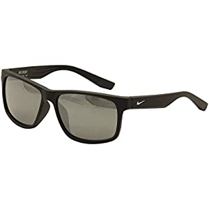 Nike EV0834-002 Cruiser Sunglasses (One Size), Matte Black, Grey with Silver Flash Lens