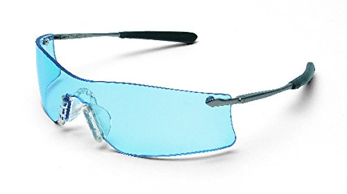 Crews T4113AF Rubicon Safety Glasses Light Blue, Anti-Fog Lens, 1 Pair