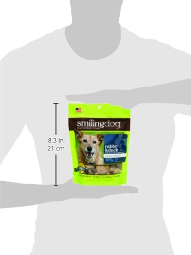 Herbsmith Smiling Dog Treats – Freeze Dried Raw Rabbit & Duck – Grocery-Grade Fruits + Veggies – Gluten + Grain Free – Made in USA – 2.5 Ounce by Herbsmith, Inc. (Image #2)