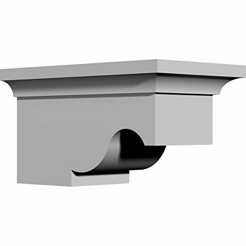 Ekena Millwork BKT07X04X04SU 4 5/8-Inch W x 7 1/2-Inch D x 4-Inch H Sussex Bracket