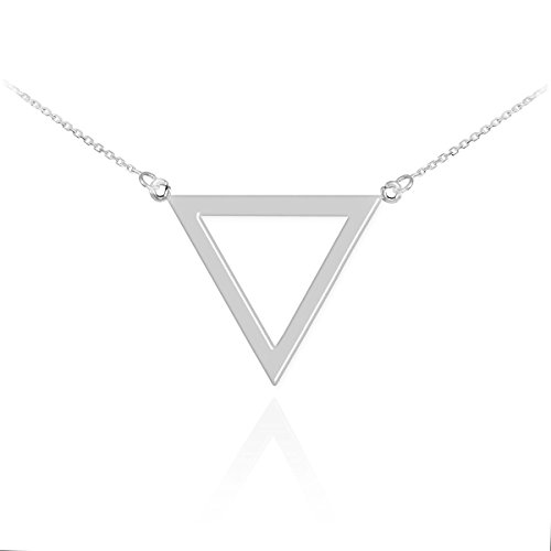 Sterling Geometric Inverted Triangle Necklace product image