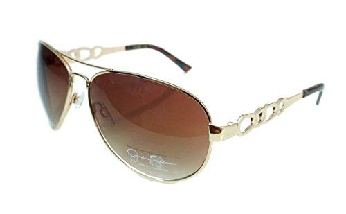 Jessica Simpson Metal Gold/Brown Aviator J5399-GLD Womans Sunglasses