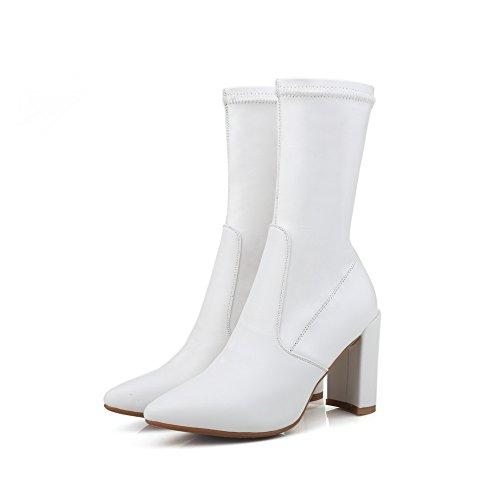 BalaMasaAbl09302 - Sandali con Zeppa donna, bianco (White), 35