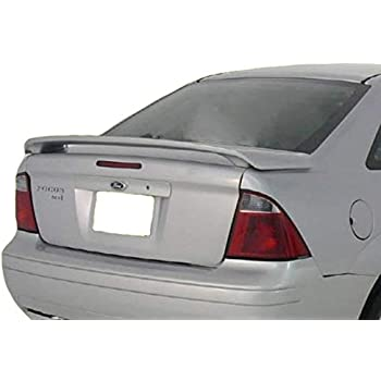 Painted ABS Rear Trunk Spoiler For 2011 Ford Fiesta Sedan Lip U6 RED CANDY