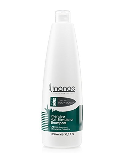 Linange Intensive Hair Stimulator Shampoo - Ginger Scent 1000ml; Moisturizing, Cleansing, Hair Care Product; Hair Shampoo for Men and Women – Great for Thin, Damaged, Weak Hair and Hair Loss (Beauty Stimulator)