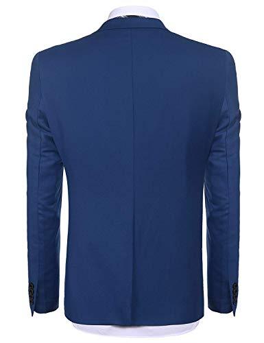 Uomo Hx Abiti Giacca Fit Blau Libero Slim Tempo anzug Maniche Comode Blazer Fashion Lunghe A Taglie Da r66wtq
