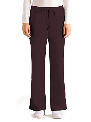 (Grey's Anatomy Women's Junior-Fit Five-Pocket Drawstring Scrub Pant - X-Small Tall - Truffle)