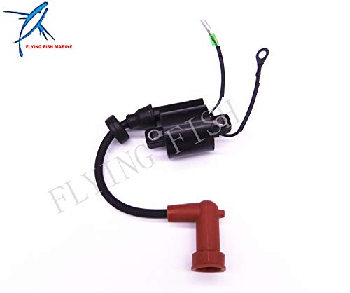 (Boat Engine 66T-85570-00 Ignition Coil for Yamaha Enduro 40HP E40X 40XWT 2-Stroke Outboard Engine 1998-Newer)