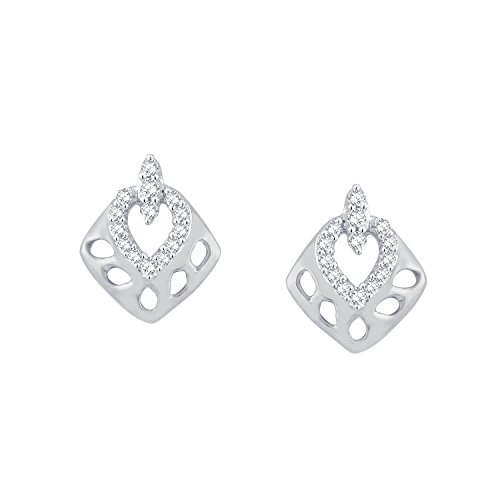 Giantti 14carats Diamant pour femme Boucles d'oreille à tige (0.1344CT, VS/Si-clarity, Gh-colour)