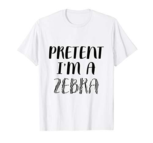 Easy Zebra Halloween Makeup (Pretend I'm A Zebra Lazy Halloween Clothing Funny Easy Joke )