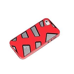 NEW Fashion Bicolor Herringbone Skin PC TPU Case Cover for ip 5/5S , Pink