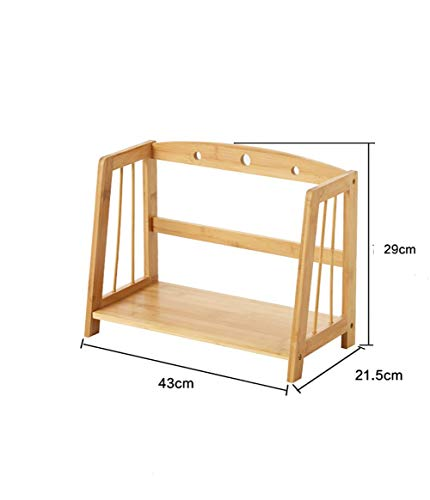 CWJ Kitchen Supplies Storage Rack, Kitchen Spice Rack Storage Rack Bamboo Multifunctional Sink Tableware Drain Shelf Table Storage Shelf,1 Layer,70cm