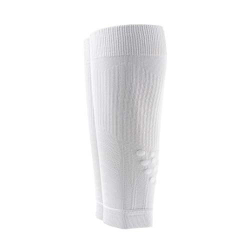 Meikan Graduated Compression Sport Calf Sleeve Stabilize Muscles Suit for Jogging Marathon Running Cycling Basketball (Pack of 1 Pair) (White, L for Calf Circumference 35cm to 42 cm) by MEIKAN