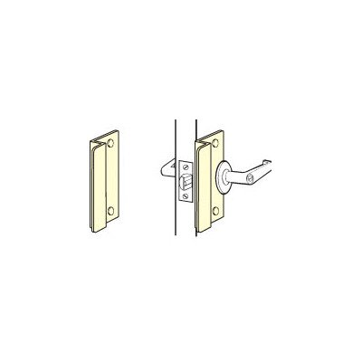 Don-Jo OSLP-110 12 Gauge Stainless Steel Short Type Latch Protector, Satin Stainless Steel Finish, 2-5/8'' Width x 10'' Height, For Outswinging Doors (Pack of 10) by Don-Jo