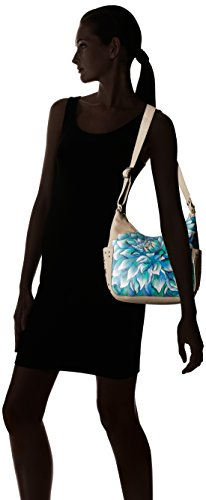 Women's Genuine Shoulder Dahlias Bag Anuschka Dreamy Leather xn5UgS5w7