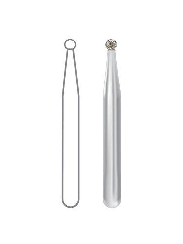 Dentsply 1801012M Midwest Once Diamond Bur, Round, Friction Grip, Medium, 1.2 mm Diameter, 1.2 mm Length (Pack of 25)