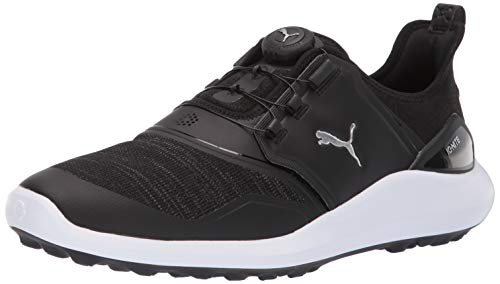 Puma Golf Men's Ignite Nxt Disc Golf Shoe Black Silver-Puma White, 10 M US