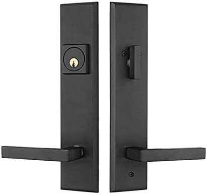 Rockwell Times Square Entry Door Lock Handle Set With Delta Lever In