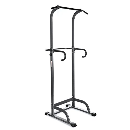 Lantusi Adjustable Power Tower, Home Adjustable Pull Up Bar Strength Body Champ Power Rack Tower