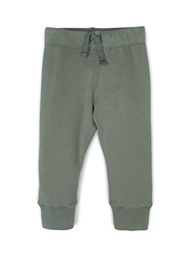 Green Baby Organic Cotton - Colored Organics Baby Unisex Organic Cotton Infant Cruz Jogger Pants - Thyme Green - 3-6M