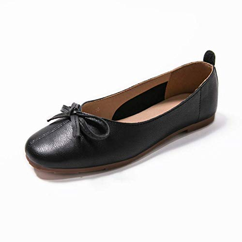 mouth casual flat shoes shallow comfortable and shoes bow FLYRCX A work Spring autumn sweet fashion shoes xF8q6xUIPw