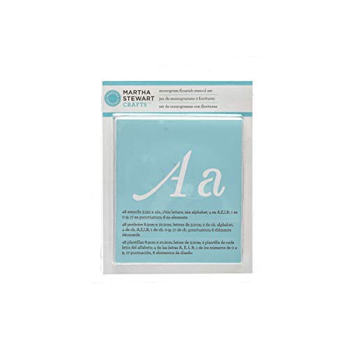 Martha Stewart Crafts Alphabet Stencil, 32988 Monogram Flourish -