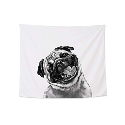 - Home Decoration Funny Bull Dog Wall Tapestry Hanging ¨C Light-Weight Polyester Fabric Wall Decor (59