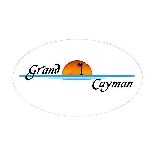 (CafePress Grand Cayman Sunset Oval Sticker Oval Bumper Sticker, Euro Oval Car Decal)