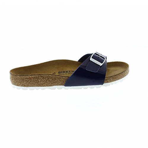 Birkenstock Madrid Regular Fit - Patent Dress Blue 1005311 (Man-Made) Womens Sandals 43 EU by Birkenstock (Image #2)