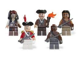 LEGO Pirates of the Caribbean Mini Figure 5Pack Item #4638572 Captain Jack Sparrow, Gunner Zombie, Yeoman Zombie, Scrum King Georges Officer 853219