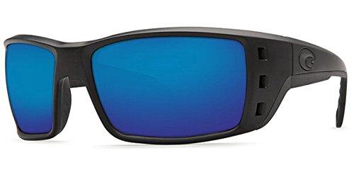 Costa Del Mar Permit Sunglasses, Blackout, Blue Mirror 580 Plastic Lens