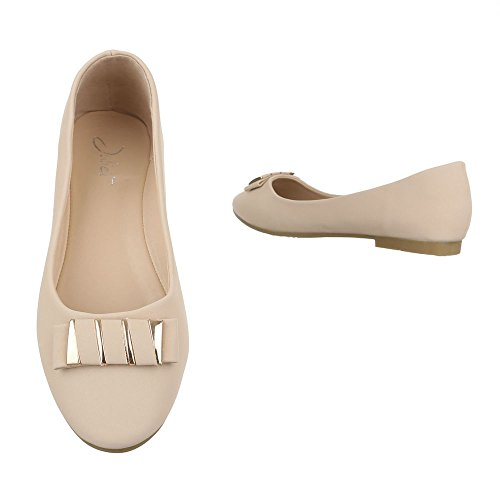 Ital-Design Women's Ballet Flats Beige 4ISHb4F