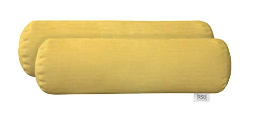 Set of 2  Outdoor Decorative Square Pillows Sunbrella Canvas Buttercup Yellow