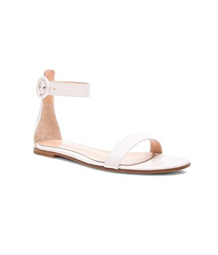 Chaussures Femme Boucle Edefs Ballerines Cheville Lanière Sandales À Chaussons Par Blanc Fermée La BqPwP51d