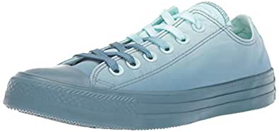 Converse Women's Unisex Chuck Taylor All Star Dip Dye Low Top Sneaker Tint/Celestial Teal, 4 M US