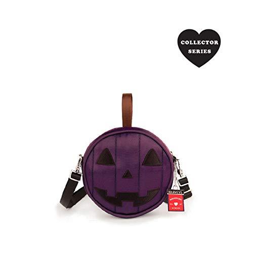 (Harveys Seatbelt Bag Women's Collectors Series Mini Circle Bag Purple Jack-O-Lantern One Size)