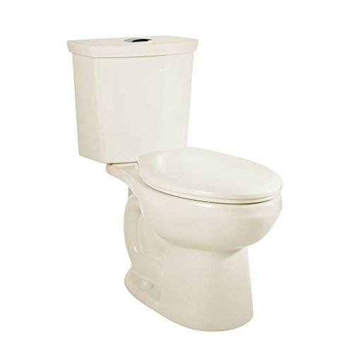 - American Standard 2886518.222 H2Option Siphonic Dual Flush Right Height Elongated Toilet with Liner, Linen, 2-Piece