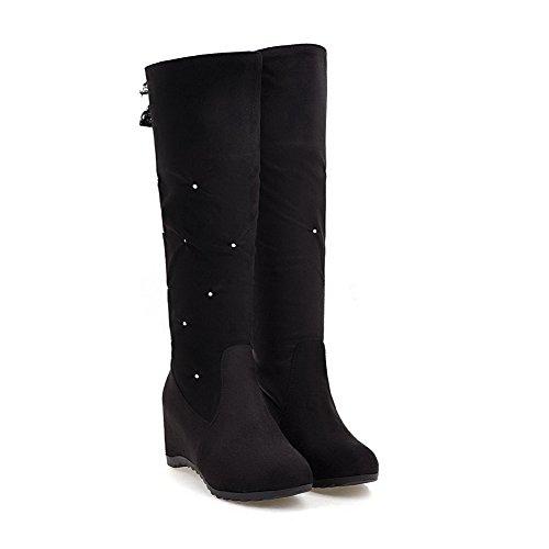 M Boots Ruched Heighten B US Urethane ABL09704 Black Womens High Inside 8 BalaMasa Ruched Flatform Thigh 1tvqW60w