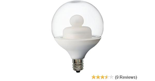 GE Lighting 62991 Energy Smart LED 1.8-Watt (15-watt replacement) 75-Lumen G16.5 Light Bulb with Candelabra Base, 1-Pack - Led Household Light Bulbs ...