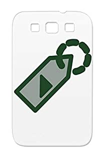 TPU Tag Symbols Shapes Attach Tickets Price Tags Labels Address Case Cover For Sumsang Galaxy S3 Black Anti-scuff